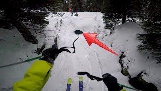 Skiing through pipe gone wrong!