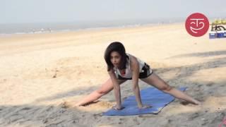 Yoga by the beach with Nushrat Bharucha