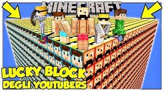 LA SFIDA DEI LUCKY BLOCK GIGANTI DEGLI YOUTUBERS Minecraft ITA