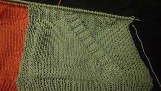 طريقة شغل جيب جانبي مائل للشمال تريكو للجاكيت Side Pocket Knitting HD