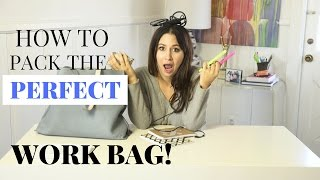 How To Pack Perfect Work Bag! | The Intern Queen