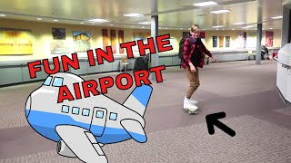 SKATEBOARDING IN THE AIRPORT - WE'RE IN CALI 🌴