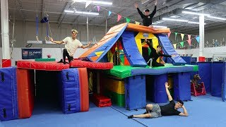 WE MADE A GIANT GYMNASTICS FORT MANSION! (INSANE)