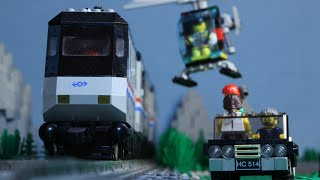 Lego Train Chase (Stop Motion)