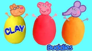 Surprise Clay Buddies Peppa Pig Blind Bags Play Doh Huevos Sorpresa Frozen Fashems Olaf