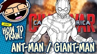 How to Draw ANT-MAN / GIANT-MAN (Captain America: Civil War) | Narrated Easy Step-by-Step Tutorial