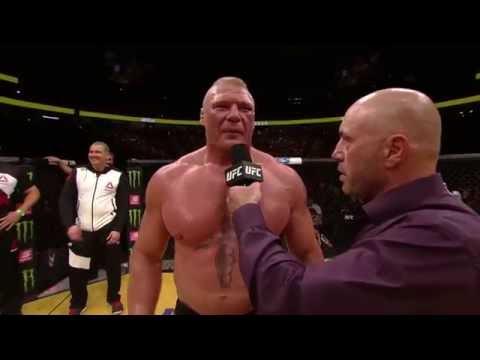 UFC 200 Brock Lesnar Octagon Interview