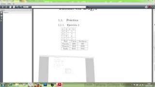 Practica Tablas en Latex Entorno tabular y table