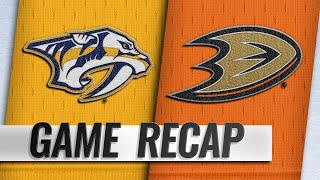 Gibson, Rakell lead Ducks past Preds in shootout