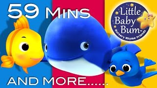The Little Blue Whale | Plus Lots More Nursery Rhymes | From LittleBabyBum!