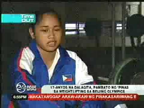 HIDILYN DIAZ 17yo Pinay Weightlifter to the Beijing Olympics