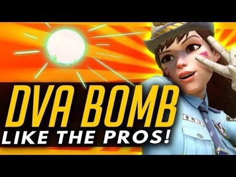 Overwatch   DVA BOMB Like A PRO - Advanced Guide + Ult Locations