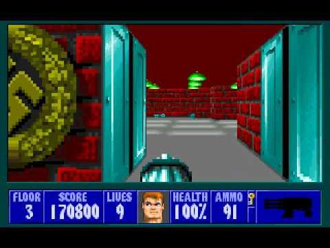 Wolfenstein 3D Full Playthrough (DOS)