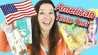 American Taste Test Chilli Pringles Moon Cheese Smores wafers