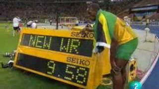 usain bolt, 9,58 nuevo record del mundo de los 100 mtrs lisos mundiales de berlin alemania