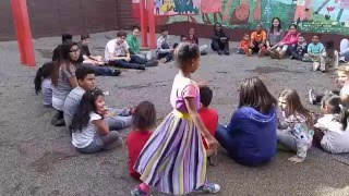 Grade 7 teaches Duck Duck Goose to K