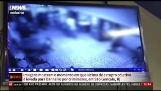 Vídeo mostra mulher levada à força para banheiro antes de estupro no RJ