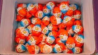 50 Transformers Edition Kinder Joy Surprise eggs unboxing