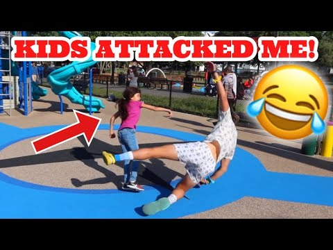 FLIPPING CHALLENGE AT THE PLAYGROUND