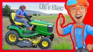 Lawn Mowers for Kids | Yard Work with Blippi