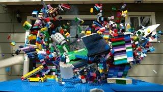 Lego Plane Crash in Slow Motion - The Slow Mo Guys