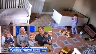 Parents Insist Horrifying Video Of Dresser Falling On Twins Is Not A Hoax