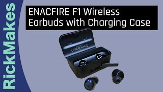 ENACFIRE F1 Wireless Earbuds with Charging Case
