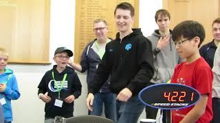 Rubik's Cube World Record - 4.22 seconds