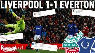Liverpool v Everton 1-1 | Twitter Reactions