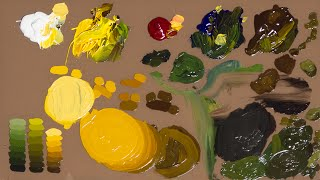 how to mix colors with oil paint