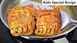 वेज़ गोल्डेन फ़िश रेसिपी || Maggie Pocket Recipe || Veg Golden Fish Recipe || Kids Party Recipe