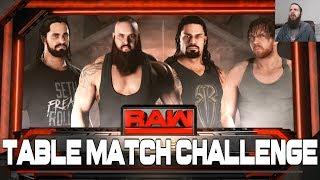 WWE 2K18 Table Match Challenge #1