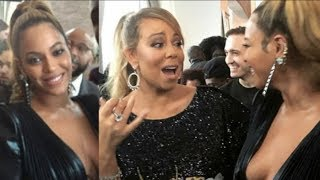 Beyonce hangs out with Mariah Carey, Normani Kordei, and Justine Skye at Jay Z