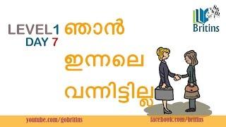 Spoken English in Malayalam- Level 1, Day 7