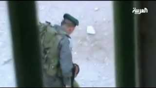 An Israeli soldier Hit an innocent Palestinian child of 9 years