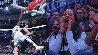 Giannis Destroys Blake Griffin With Dunk & Stares Him Down! Bucks vs Pistons