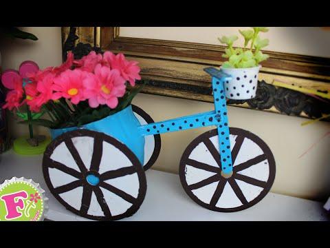 Florero en forma de bicicleta para mam floritere - Bicicleta macetero ...