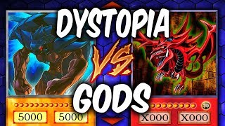 Yugioh EGYPTIAN GODS vs DYSTOPIA DECK (Yu-gi-oh God Card Deck Duel!)