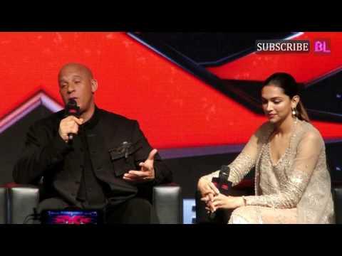 Vin Diesel & Deepika Padukone at press conference of XXX : Return of Xander Cage   Part 2