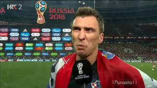 Mario Mandžukić after match Cro vs Eng