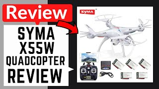 Syma X5SW Quadcopter with WIFI FPV Camera - Full Review Video test, unboxing, footage, and more