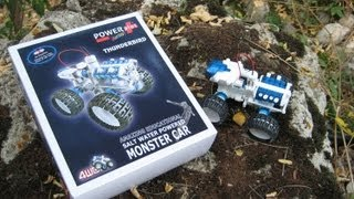 Thunderbird Salt Water 4WD Monster Car on the road and rocks- Green Energy Toys