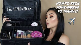 PACK WITH ME: MY TRAVEL MAKEUP TSA APPROVED   MAKEUP BY JEN