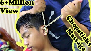 Relaxing Head Massage with stick again - Intense ASMR