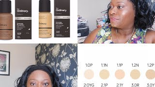 NEW The Ordinary Coverage Foundation All Day Wear Test & Review on Oily Skin (Dark skin tone)