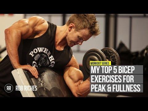 TOP 5 Bicep Peak Exercises Rob Riches
