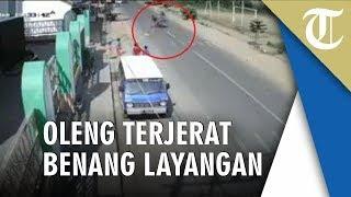 Viral Di FB Video Kecelakaan Pengendara Motor Karena Benang Layangan