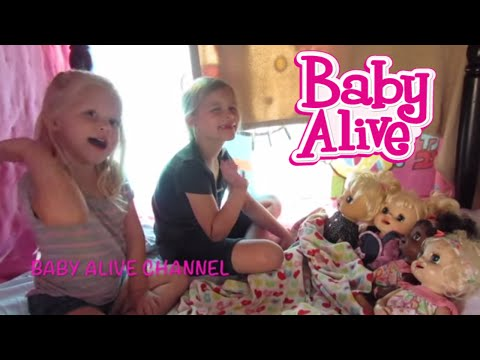 Baby Alive how to make a Table Fort + story with Maddy + Elsa's scare!