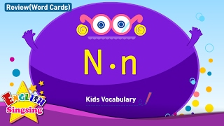 Kids vocabulary compilation - Words starting with N, n - Word cards - review