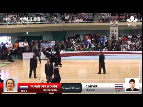 (NED4)M.VAN DER WOUDE DD- C.MEYER(THA7) - 16th World Kendo Championships - Men's Individual_2R